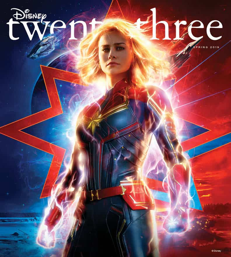 Captain Marvel Lands on the New Cover of Disney 23