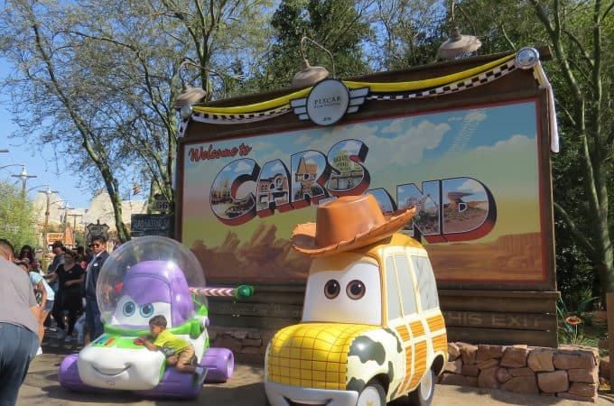 Cars land is in California Adventures