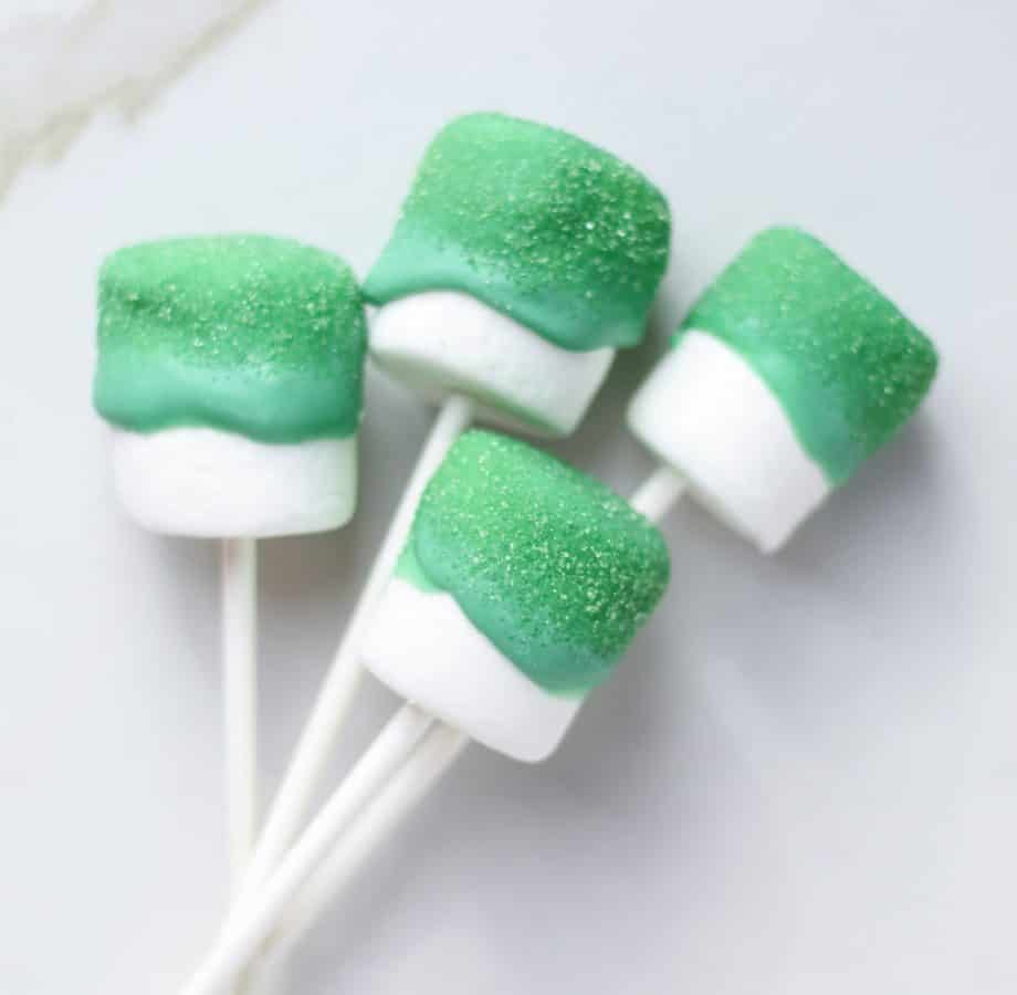 St. Patrick's day Marshmallow Candy Sticks