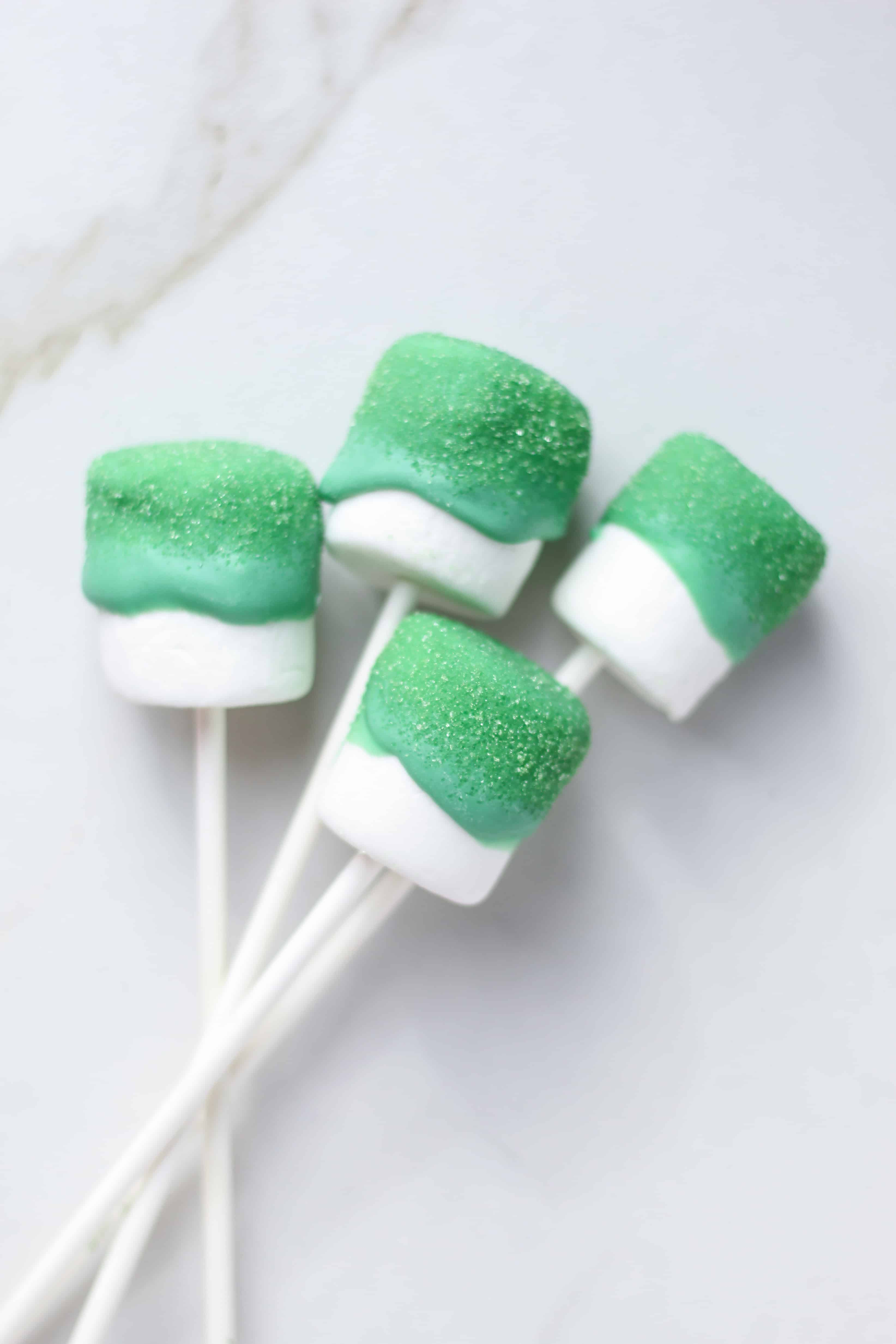 St. Patrick's day Marshmallow Candy Sticks