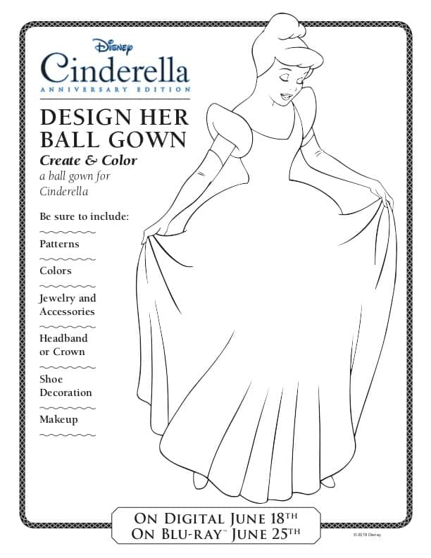 How to Draw a Cinderella Gown