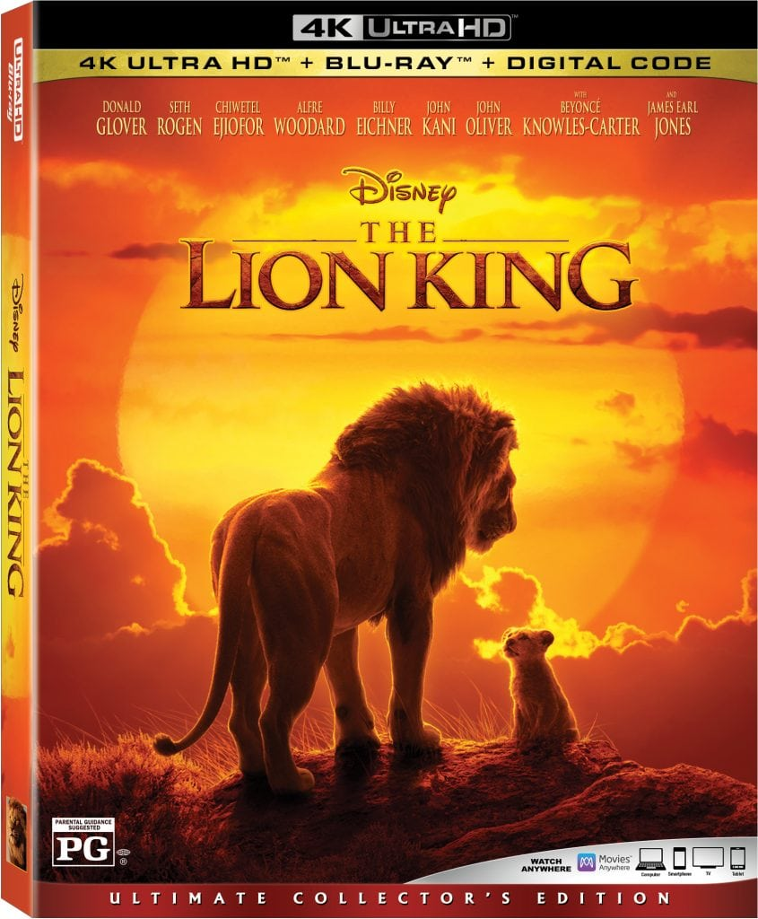 THE LION KING is available on Digital October 11 and on 4K UHD, Blu-ray and DVD October 22 from Walt Disney Studios.