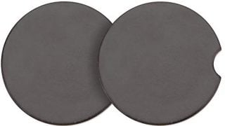 """Car Coasters for Cup Holders Absorbent 2 Pack – Ceramic Sandstone Car Cup Holder Coaster for Women and Men – Cup Holder Insert – 2.5"""" Diameter Black Coasters"""