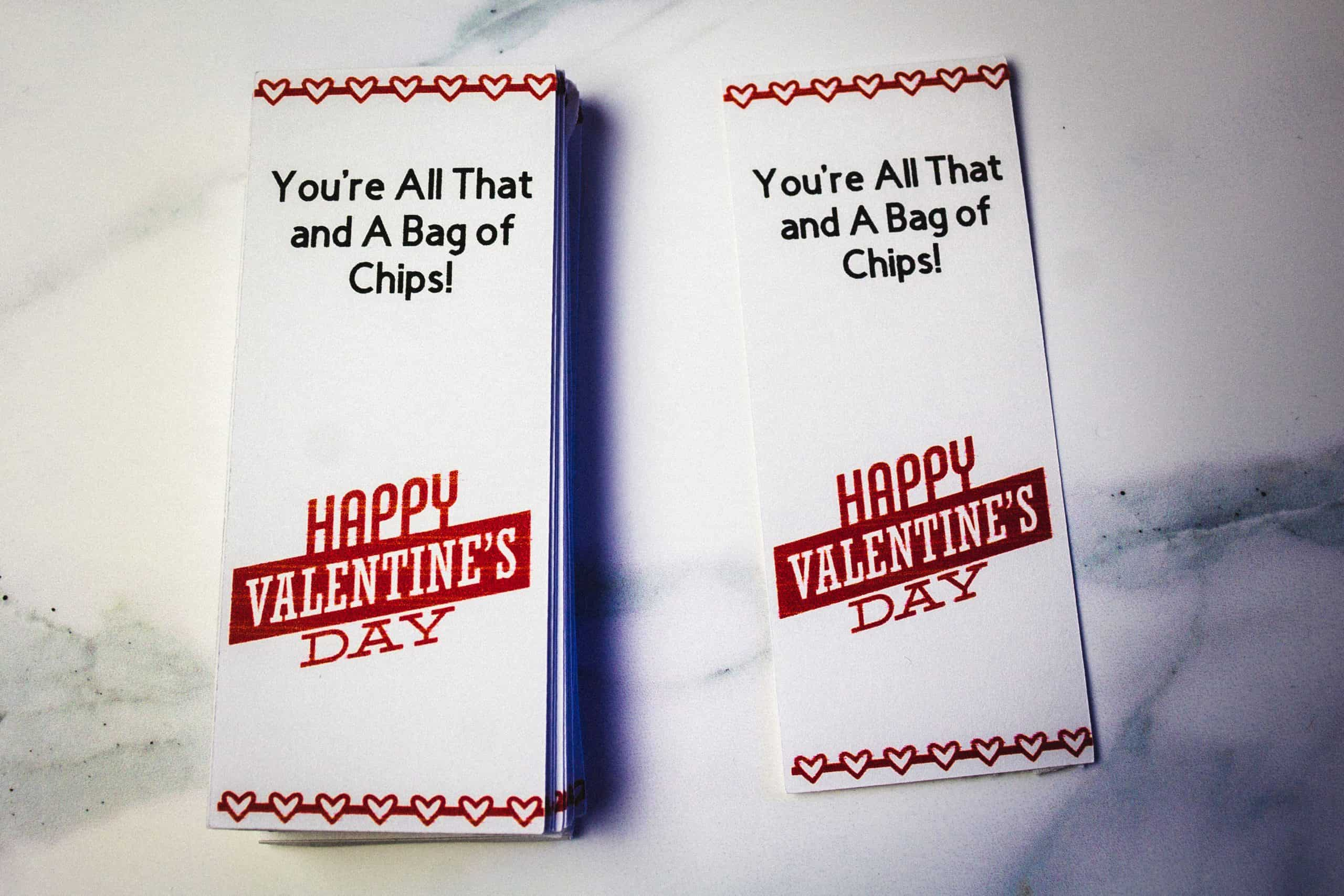 You're All That and a Bag of Chips Free Printable Valentine's Card