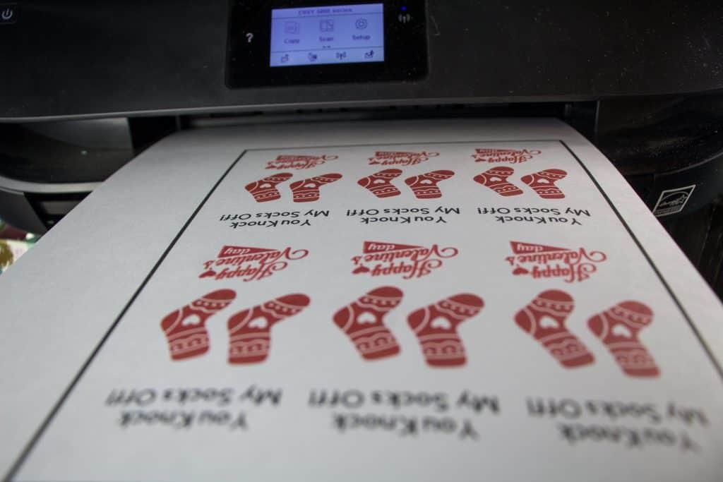 You Knock My Socks Off Free Valentine's Day Printable