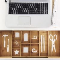 Desk Drawer Organization Labels With Cricut