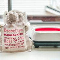 How to make a personalized birth stat elephant with Cricut EasyPress 2
