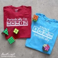 Periodic Table Funny Science T-Shirts with Cricut Maker!